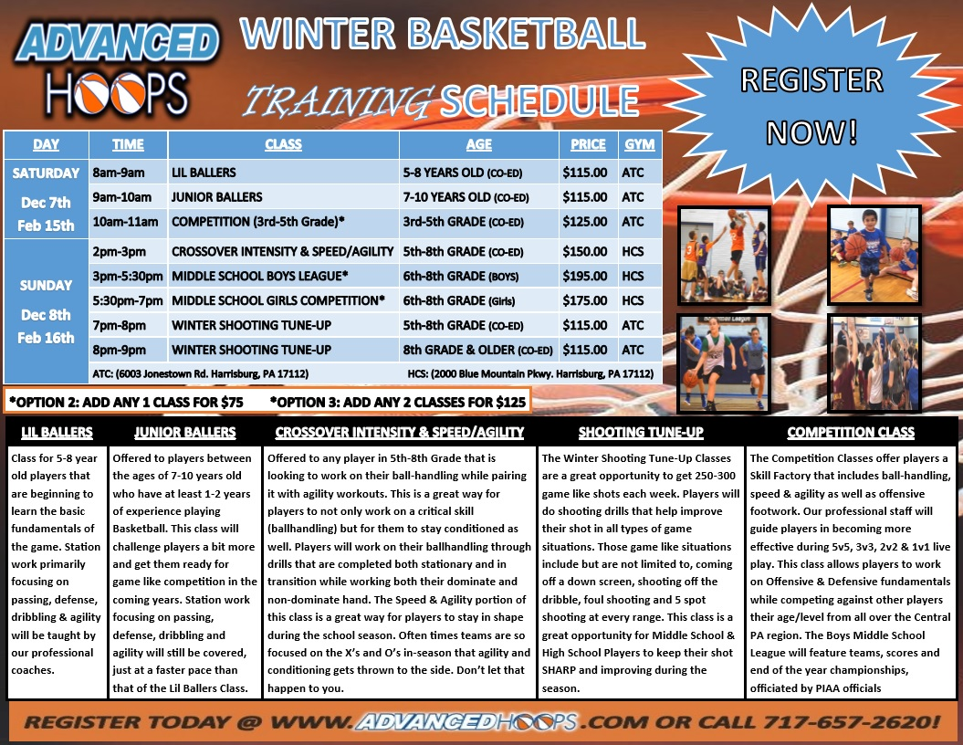 2019 2020 winter training program schedule advanced hoops. Black Bedroom Furniture Sets. Home Design Ideas