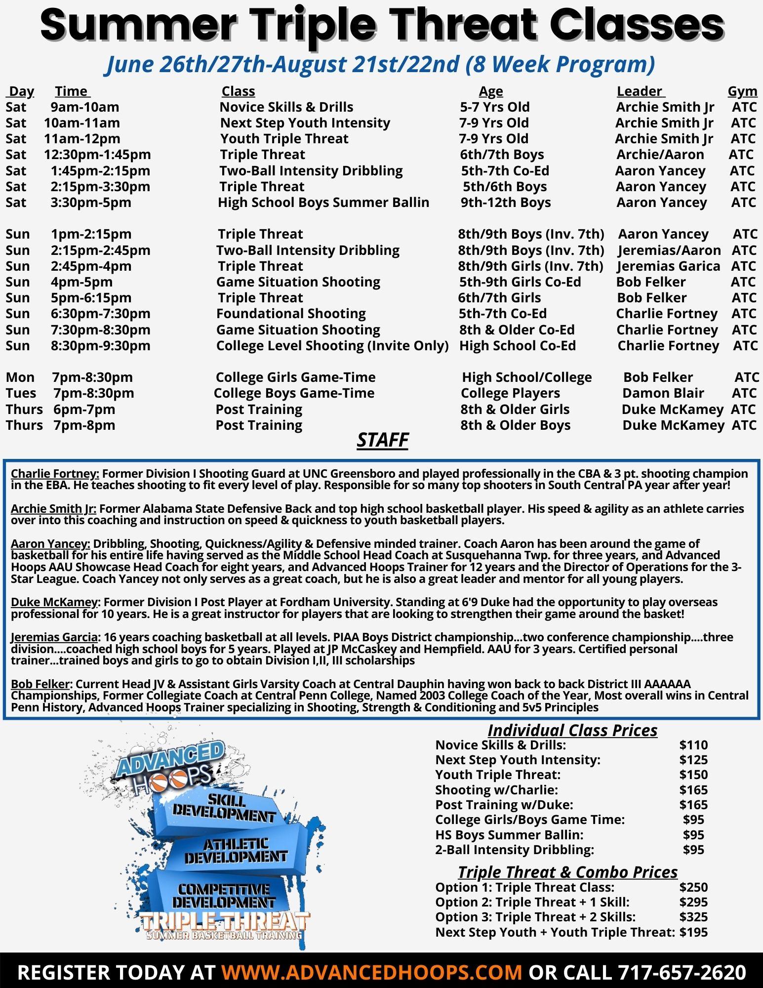 2021 Summer Training Program