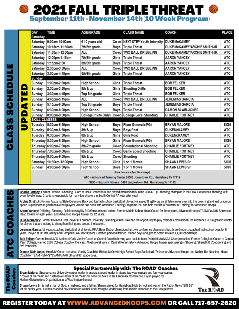 Copy of 2021 FALL Training Program